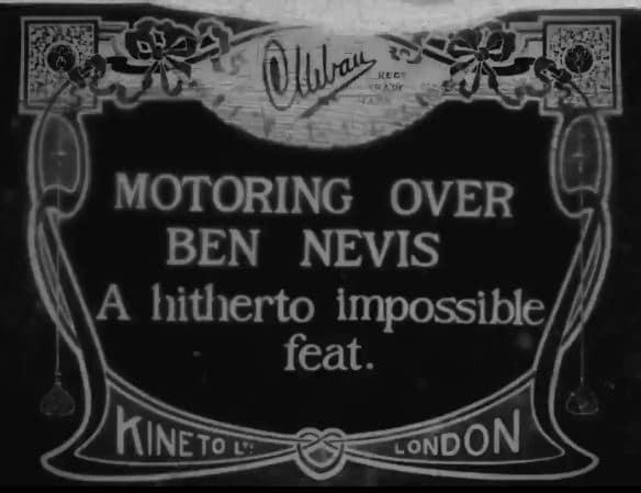 History: Motoring Over Ben Nevis