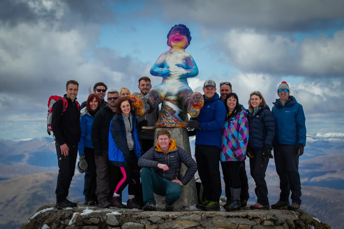 Oor Wullie Reaches Ben Nevis Summit